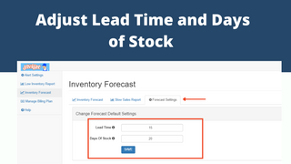 Change lead time and days of stock