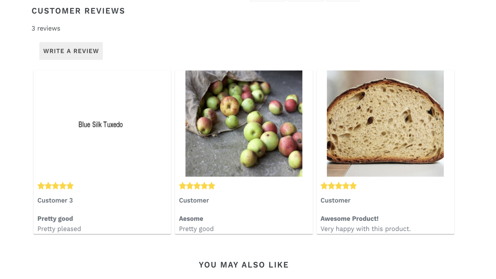 Show reviews on your product page