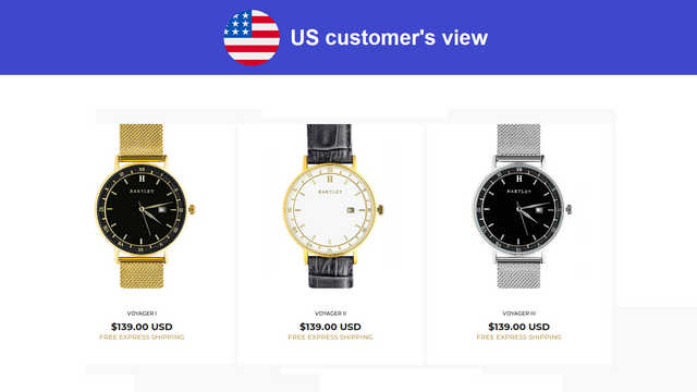 Multi Country Pricing App US Prices