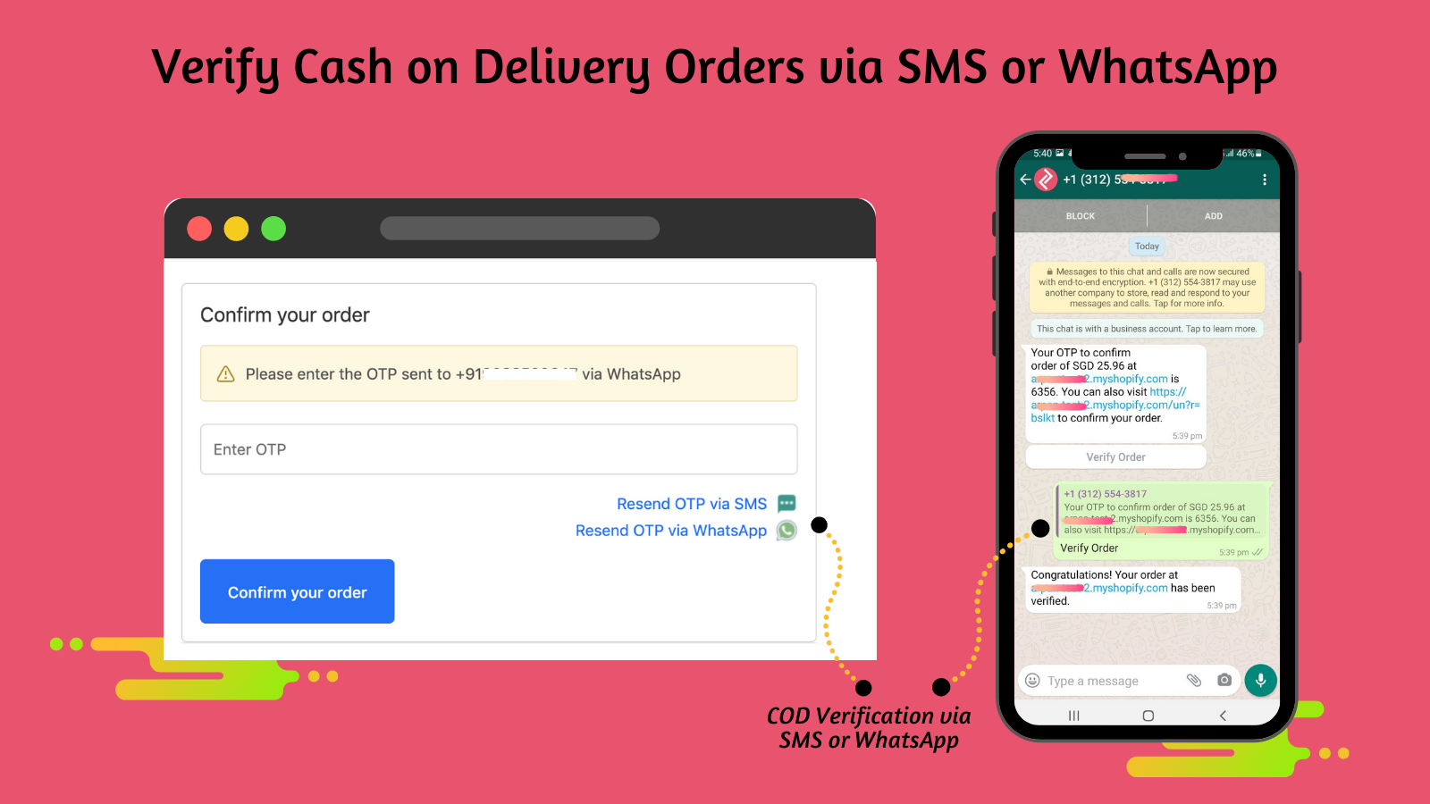 Cash on Delivery Verification WhatsApp