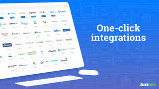One-click integrations with all major applications make it easy
