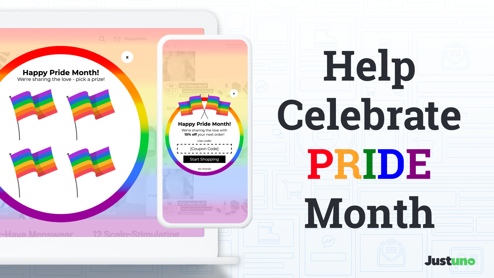 Help celebrate Pride Month with these Pride popup prebuilts
