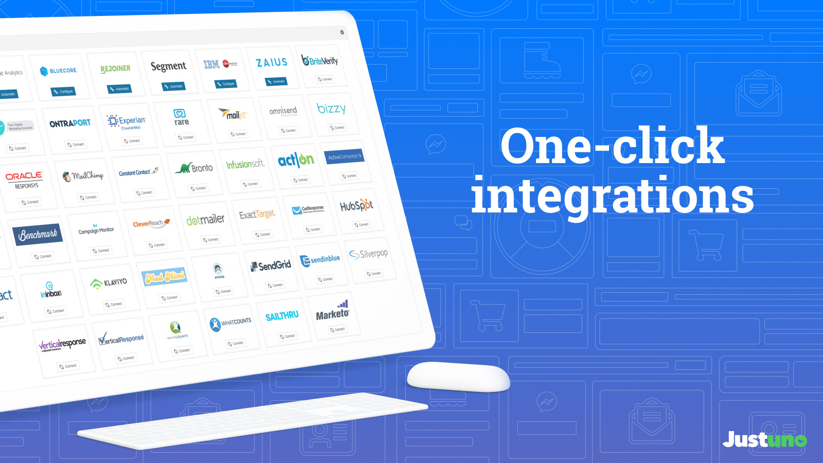 One-click integrations make it easy to get started with Justuno
