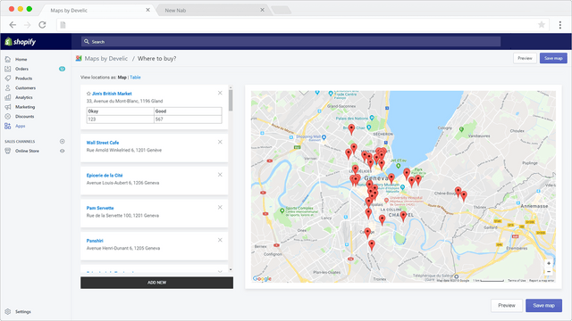 Maps by Develic, Admin zone map management