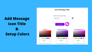 Add Message Icon Title and Setup Colors
