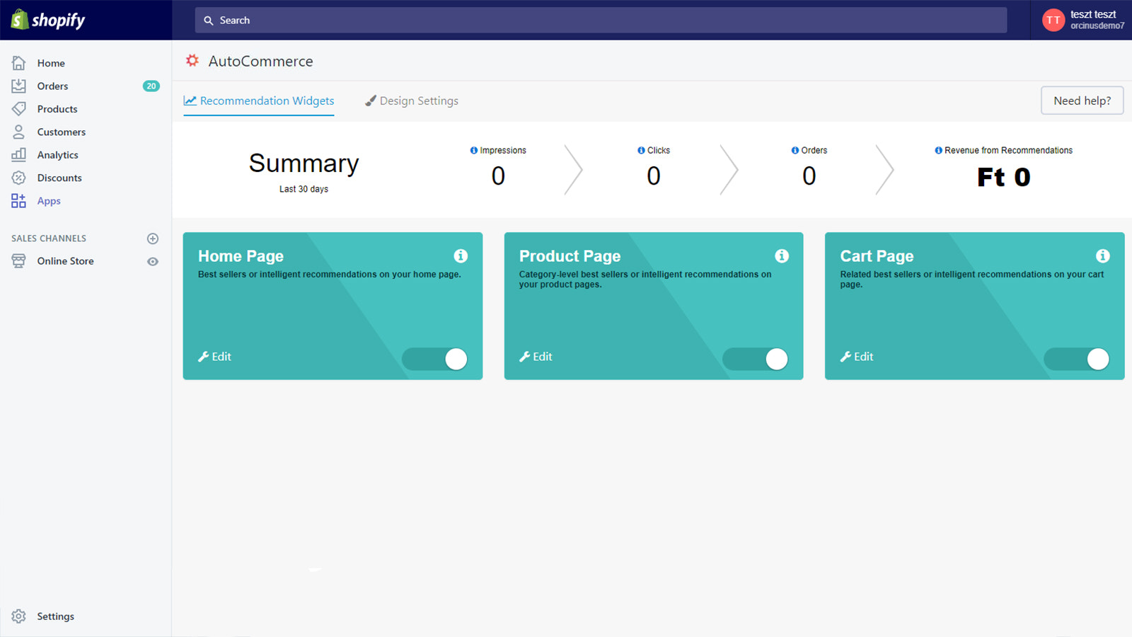 Upsell Recommendations Dashboard