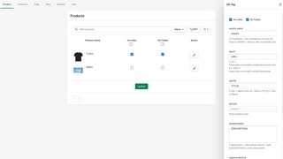 Product Page Settings