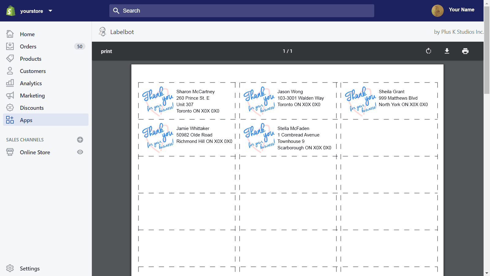 View/print PDFs from directly within the app.