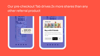Pre-Checkout Tab allows sharing across entire purchase journey