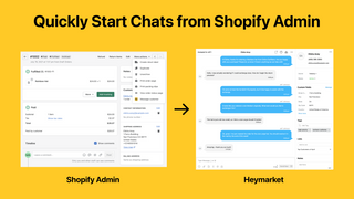 Quickly Start Chats from Shopify Admin