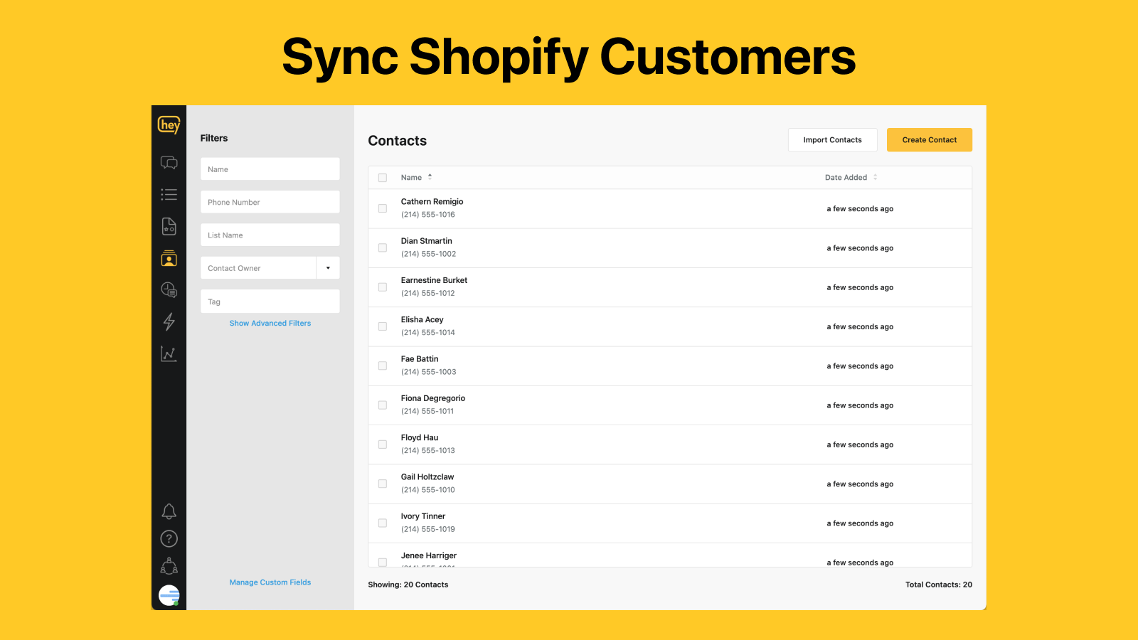 Sync Shopify Customers