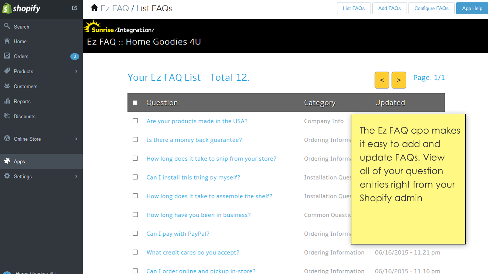 See the full list of FAQs and categories