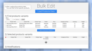 Admin panel step 1, find product variants