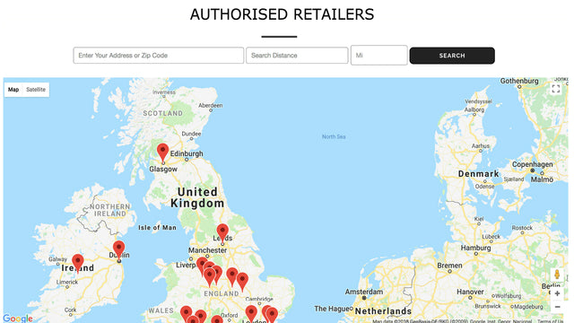 Stores displaying on Map