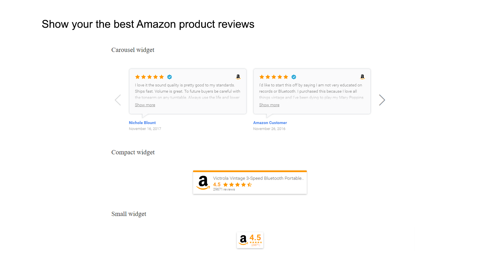 Amazon product reviews shopify