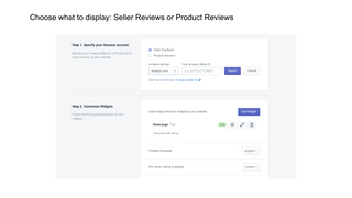 Seller or product reviews