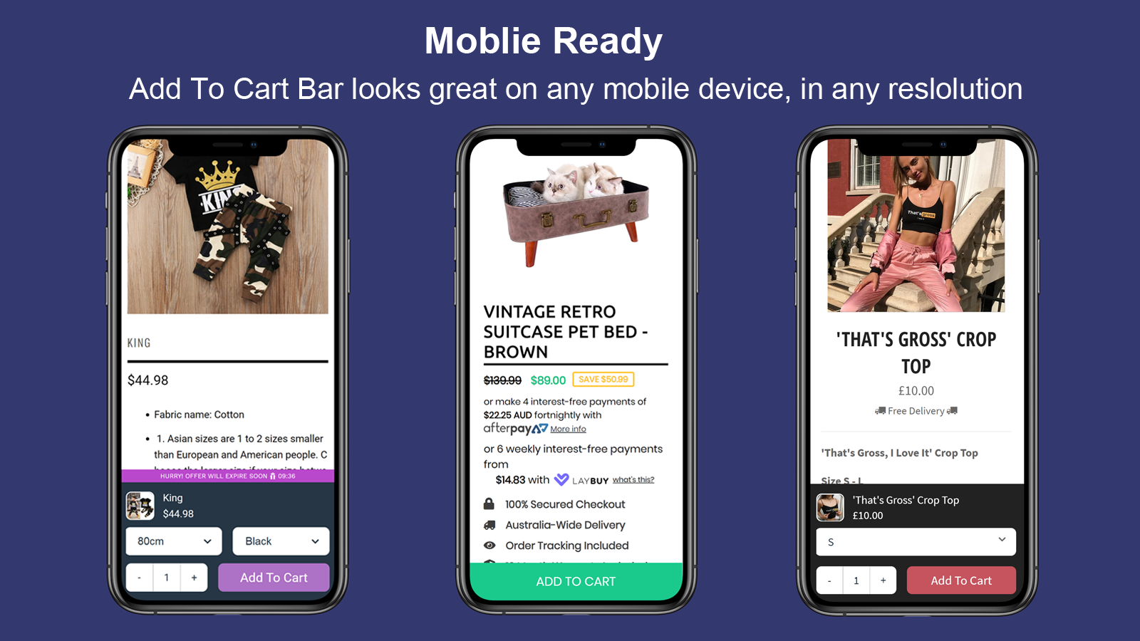 Sticky Cart Bar & Countdown Timer-Product Page