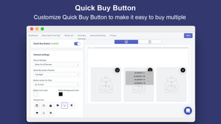 Customize Your Quick Buy Button