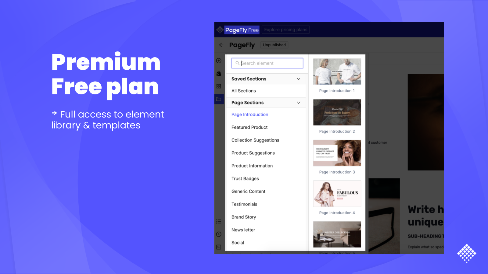 shopify pagefly page editor