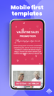 landing page mobile app
