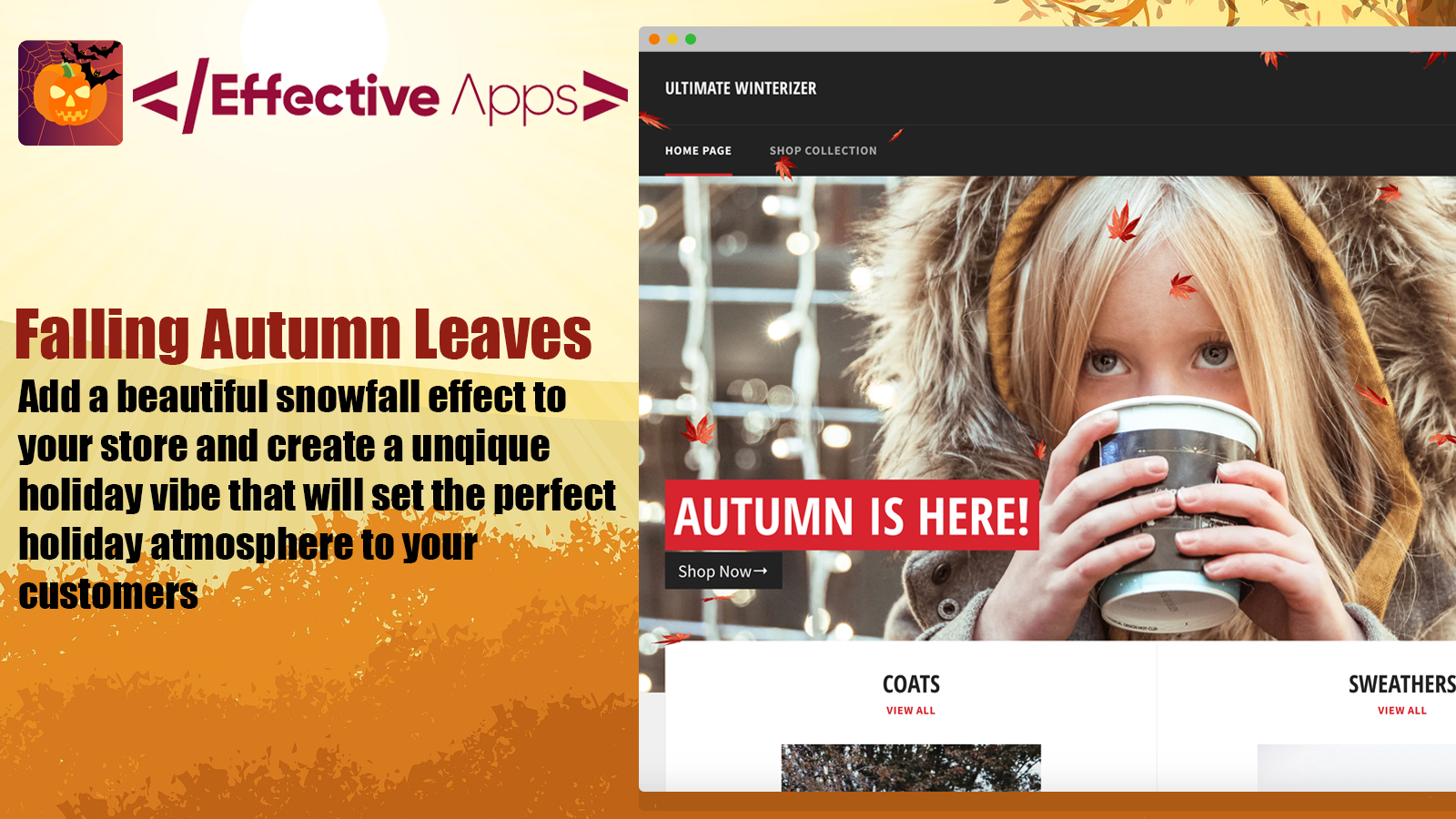 The falling autumn leaves effect in action