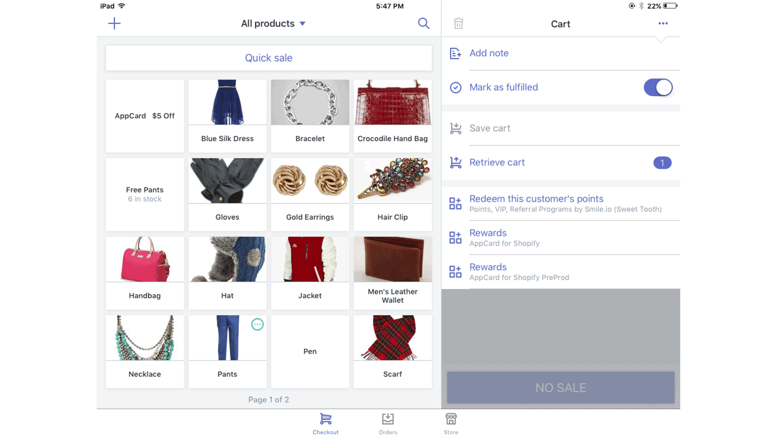 Check customer's available points from the transaction screen