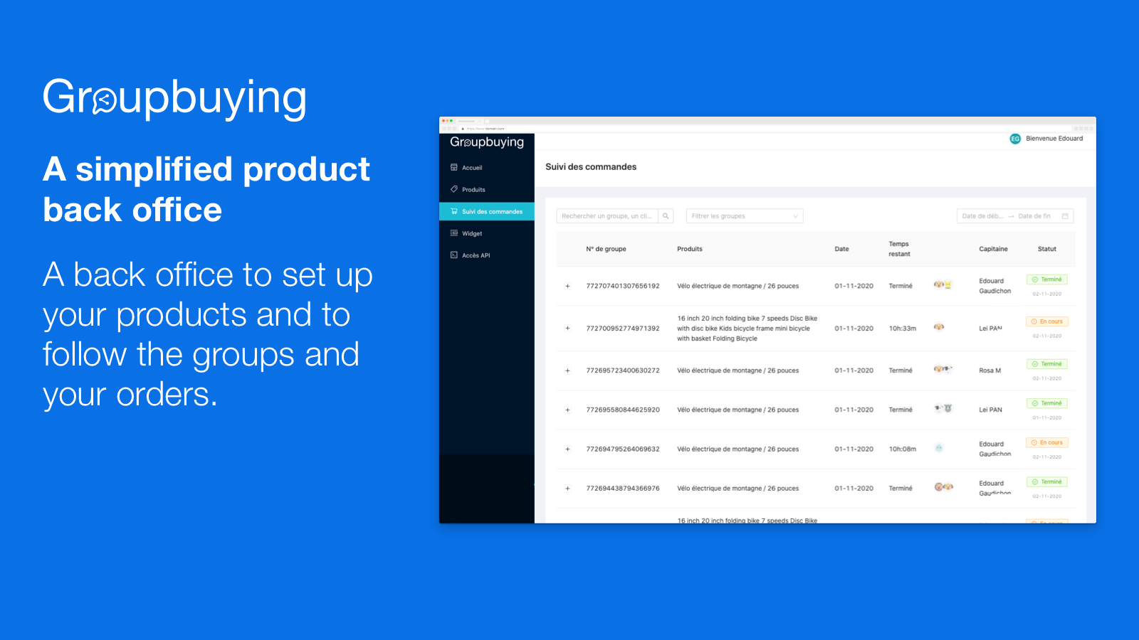 A simplified product back office
