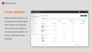 Create Collection View Products