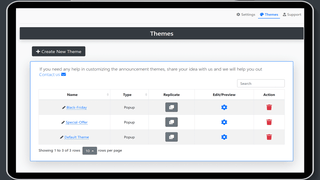 Create Unlimited Announcement Themes