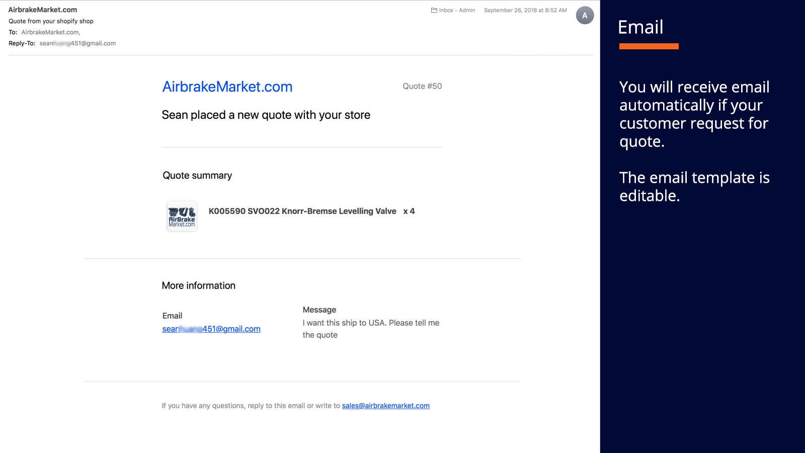 Admin: Customizable Email Template