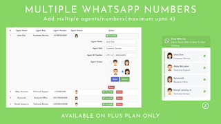 Multiple Numbers/Agents