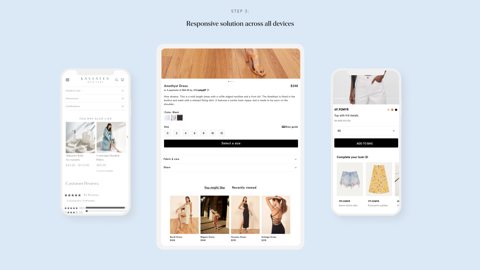 Responsive solution across all devices