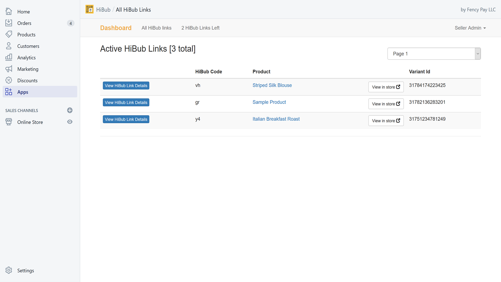 Manage all your HiBub links