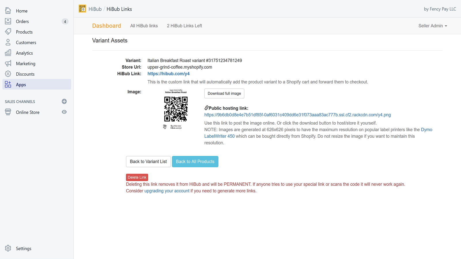 HiBub is instantly shareable with simple URLs and codes