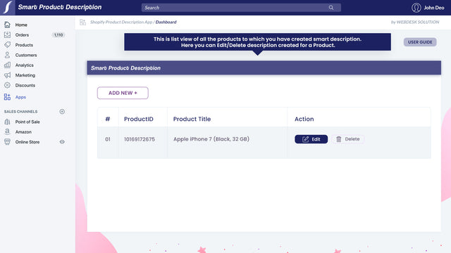Add product additional information
