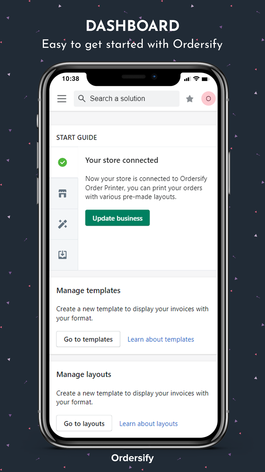 Easy to get started with Ordersify