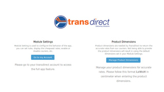 Transdirect Dashboard