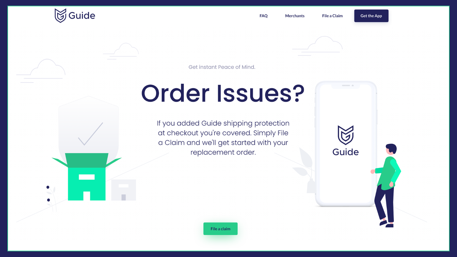 Report any issues with an order directly on our website.