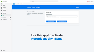 Use this app to activate Nopsbit Shopify Theme