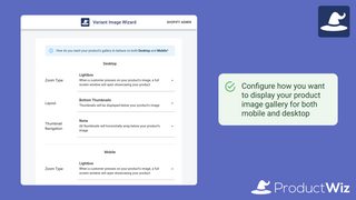 Configure how you want to show your images on desktop and mobile