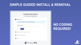 Simple guided install & removal, no coding required!