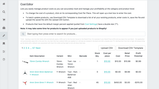 Edit the Cost of Goods Sold individually or massively