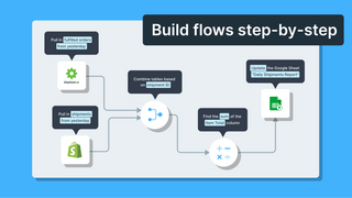 Build flows step-by-step