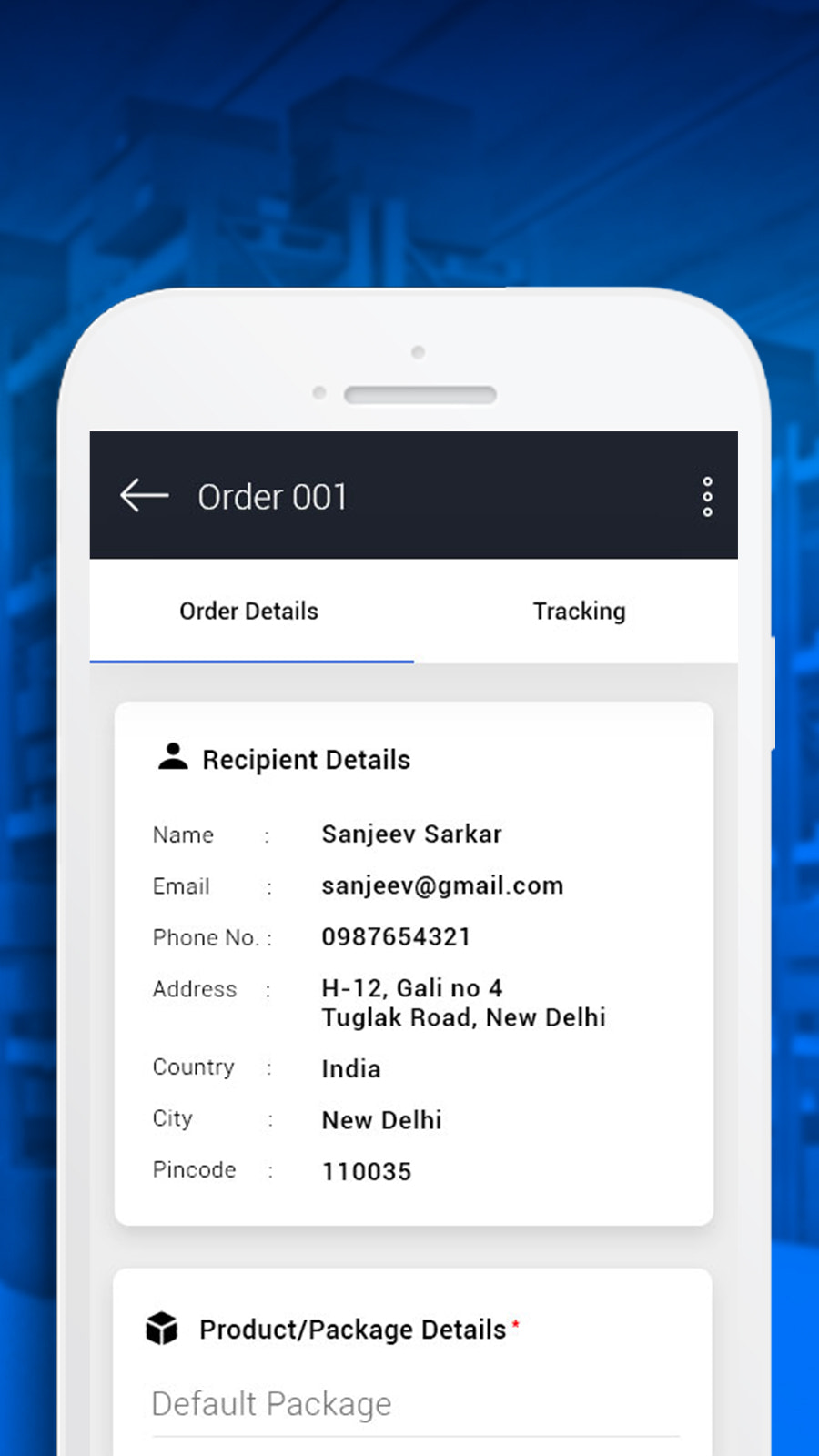 Order Details and Fulfilment