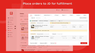 Place orders to JD for fulfillment