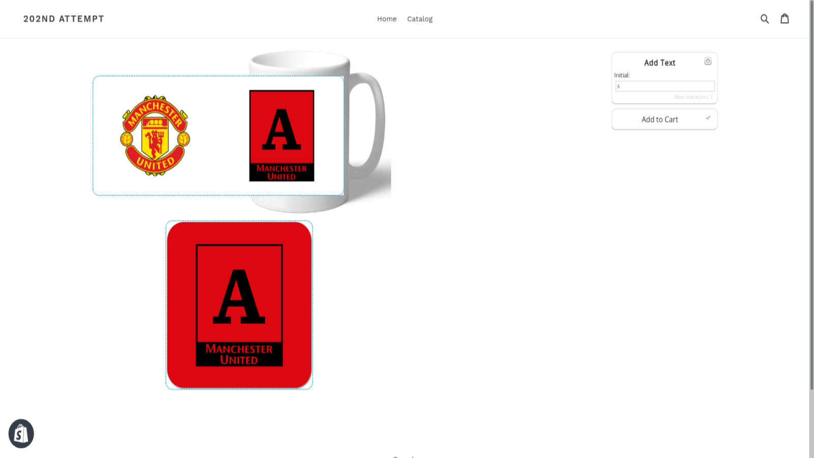 Frontend Product Personalisation