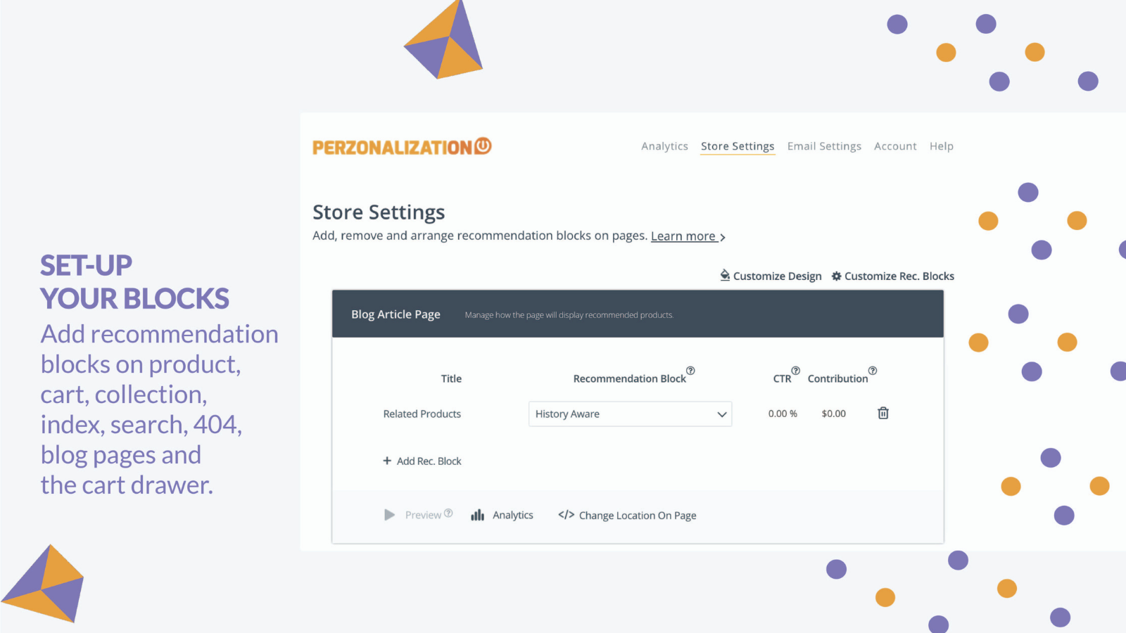 Personalized Recommendations Shopify: Setup recommendation block