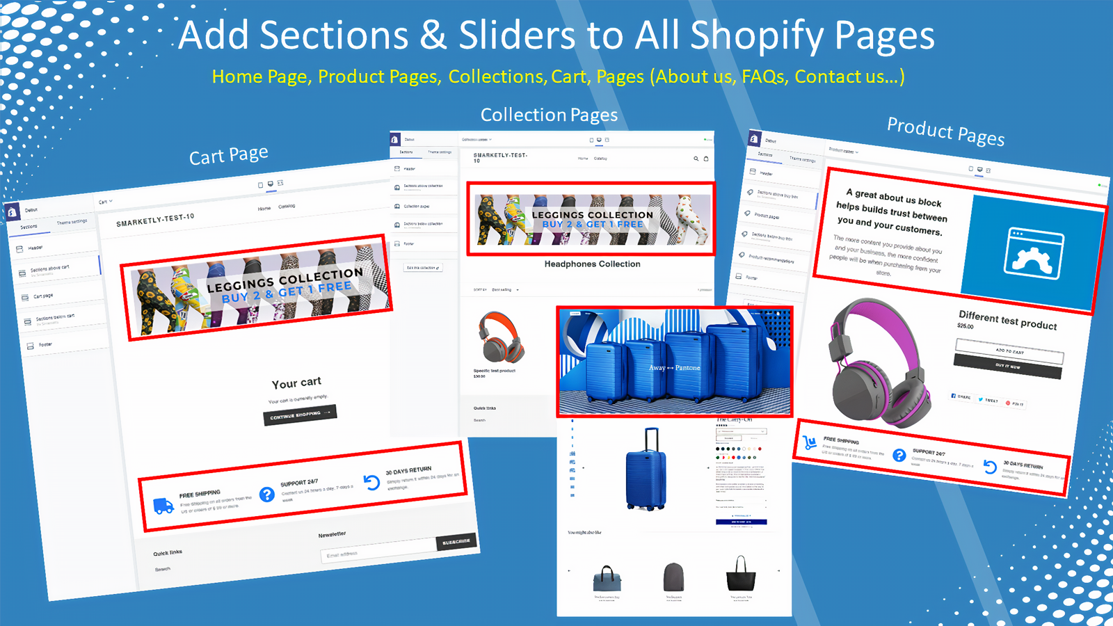 Add Sections & Sliders to All Shopify Pages