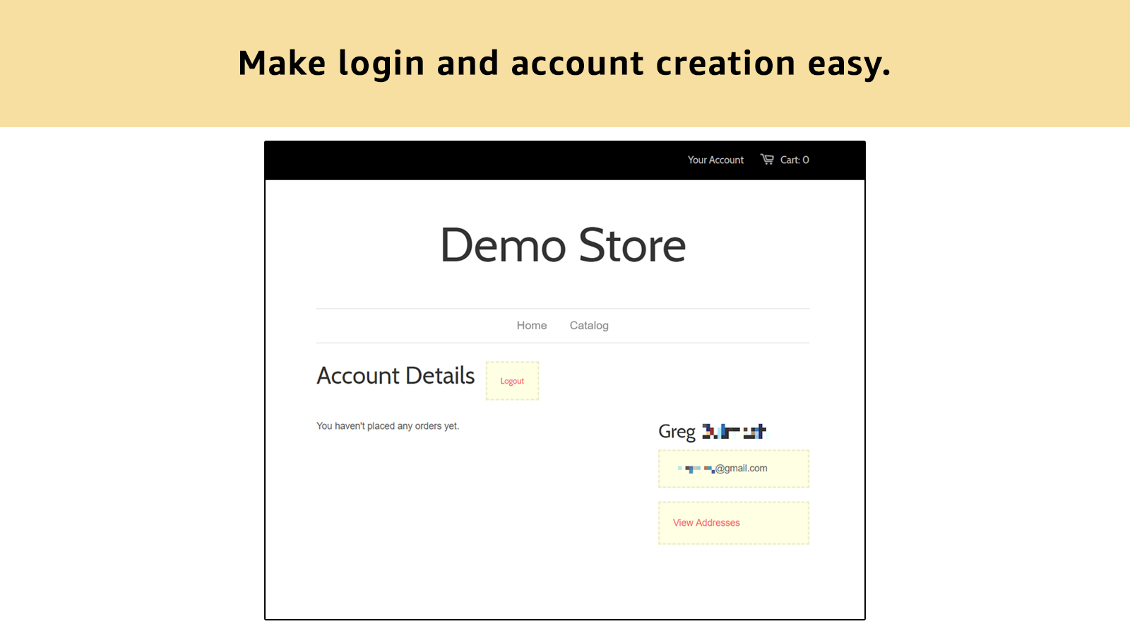 Ease, familiarity, and trust... use Login with Amazon.