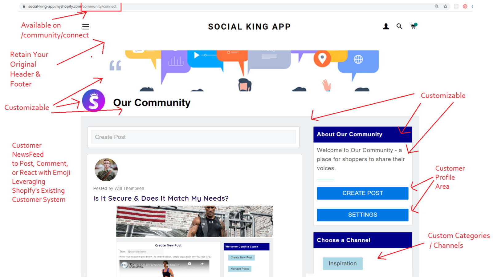 Social NewFeed with Tags